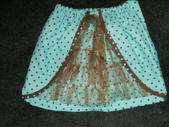 Blue Ooh La La Ruffled Skirt