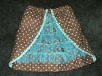 Brown Ooh La La Ruffled Skirt