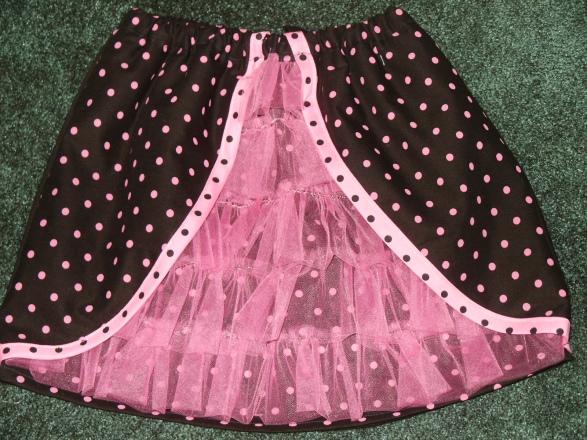 Black Ooh La La Ruffled Skirt