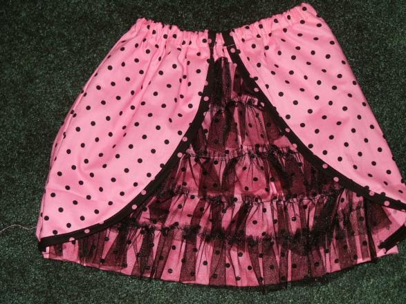 Pink Ooh La La Ruffled Skirt