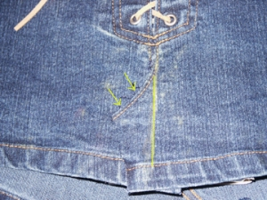 Measuring for new seam placement
