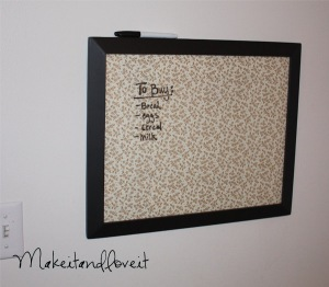 White Board Project from Make It and Love It